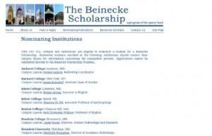 4. Beinecke Scholarship Essay